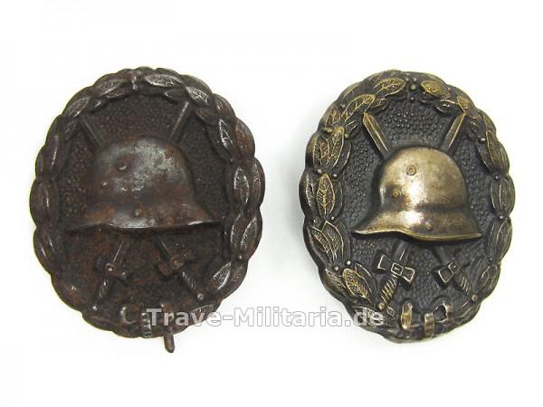 2 Verwundetenabzeichen 1918 in Schwarz