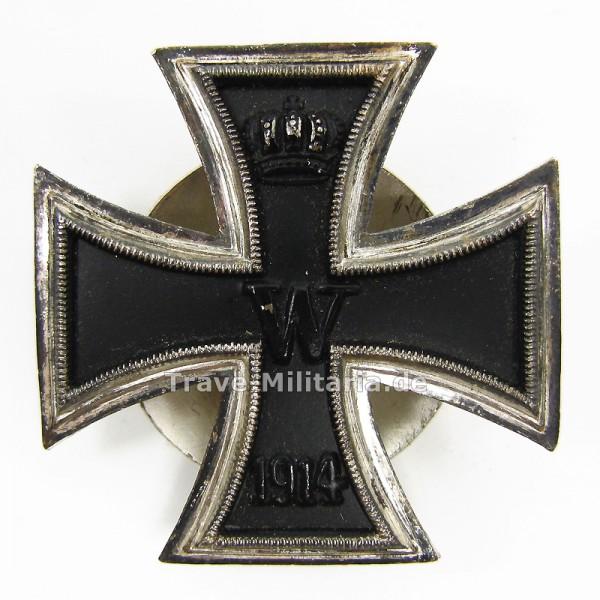 Eisernes Kreuz 1. Klasse von 1914 mit Unterlegscheibe und Rändelschraube