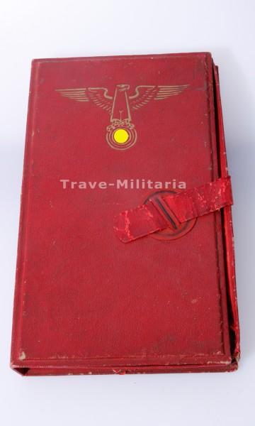 NSDAP Erinnerungsplakette an die Errichtung der Reichskanzlei - im Etui