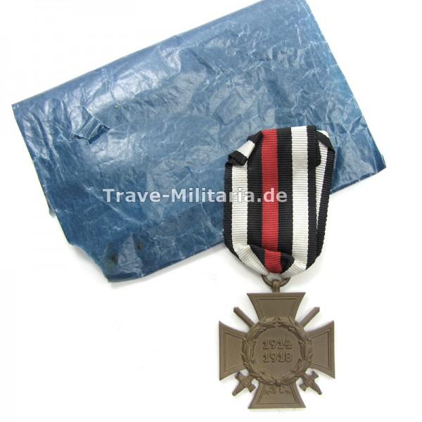 Ehrenkreuz für Frontkämpfer mit Verleihtüte