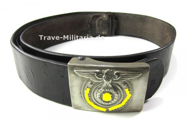 Koppelschloß der Waffen-SS mit Lederkoppel