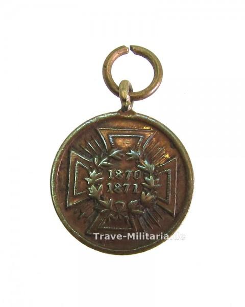 Miniatur zur Preußischen Kriegsdenkmünze 1870/71 für Kämpfer