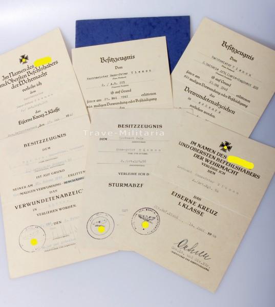 Urkundengruppe Div. Hoch- und Deutschmeister Art. Regt. 225 und 96