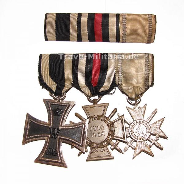 3er Ordenspange mit Feldspange mit Bulgarischen Orden