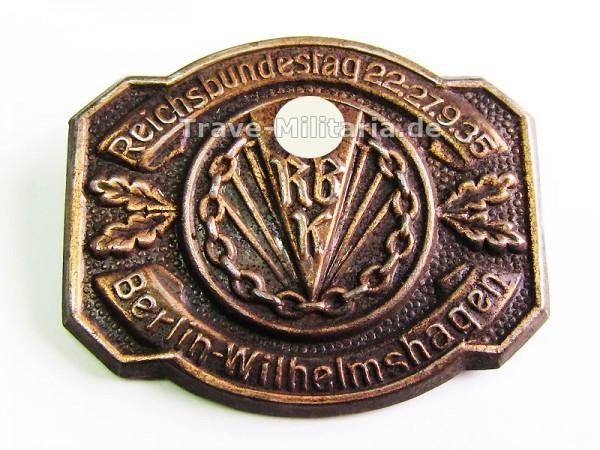 Kleinabzeichen Reichsbundestag 22.27.9.35 Berlin-Wilhelmshagen