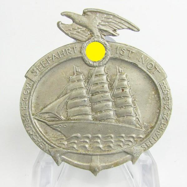 Abzeichen Seefahrt ist Not - Hersteller Paul Schulze Lübeck