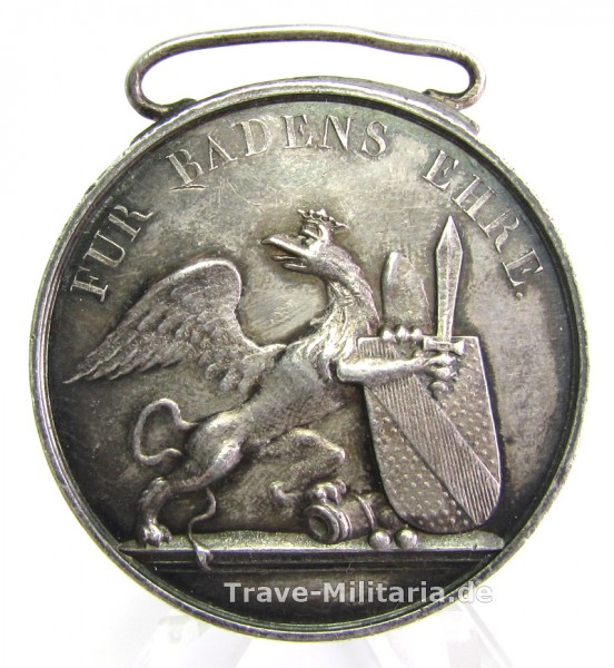 Baden Silberne Verdienstmedaille des Militär Karl-Friedrich-Verdienstordens - extrem selt