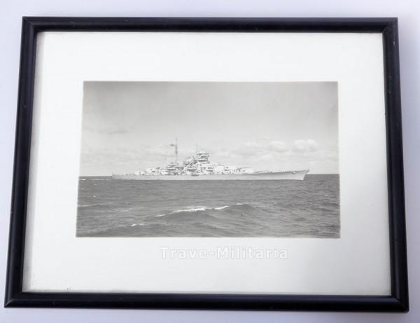 Geschenkfoto Schlachtschiff Bismarck mit Widmung