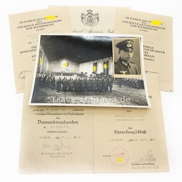 Urkundengruppe Artillerieregiment 24