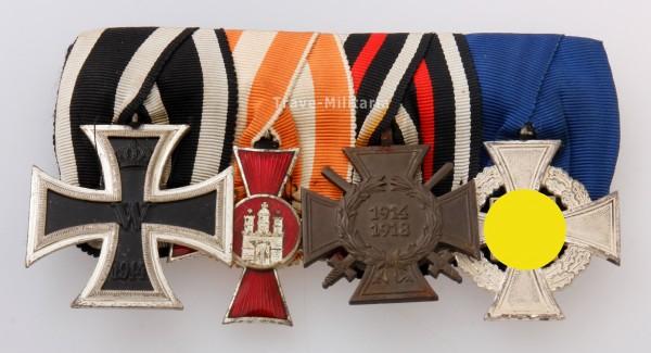 4er Ordenspange mit Hanseatenkreuz