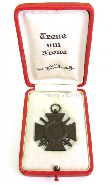 Ehrenkreuz für Frontkämpfer im Etui Treue um Treue