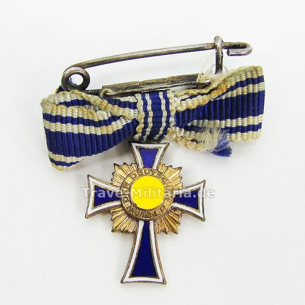 Miniatur Ehrenkreuz der Deutschen Mutter in Gold L/60