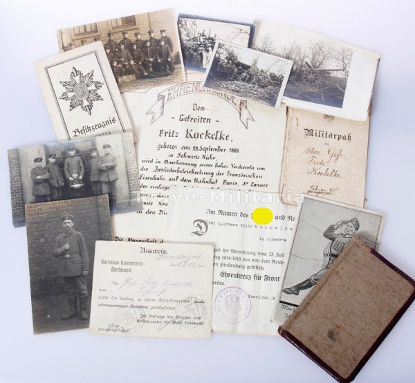 Papiernachlass Fritz Kockelke