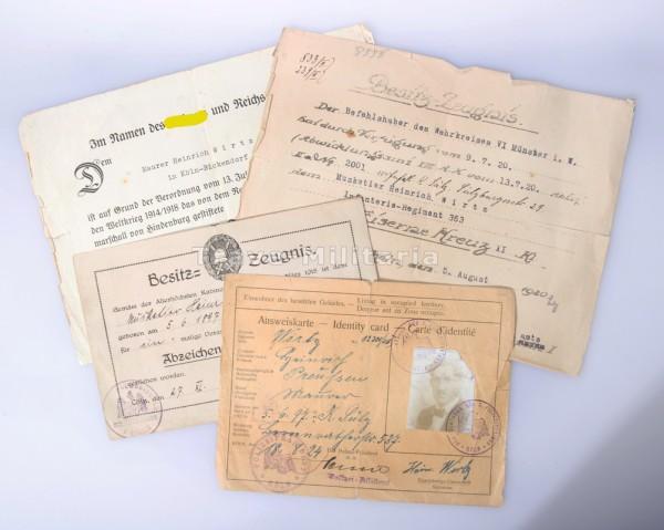 Urkundengruppe Wirtz 1.Weltkrieg