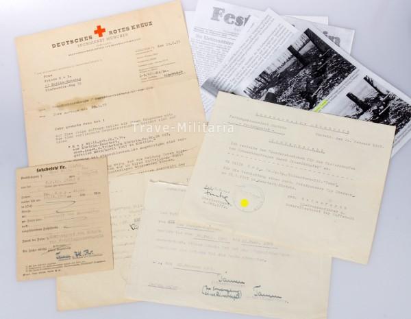 Papiere Willi Kay Festung Küstrin Panzervernichter