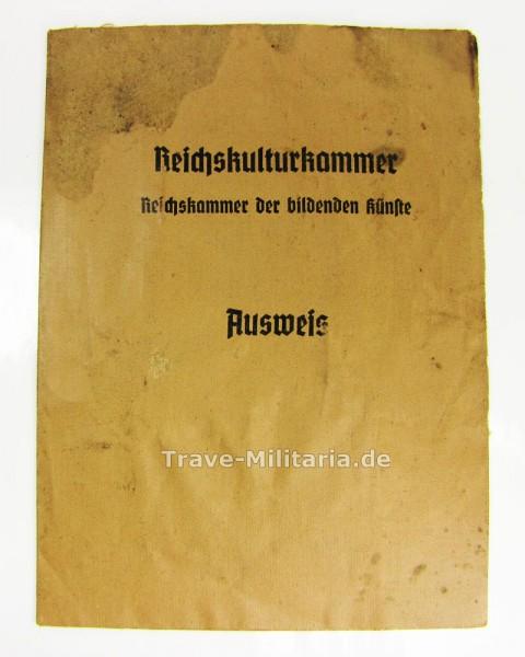 Ausweis Reichskulturkammer - Bildende Künste