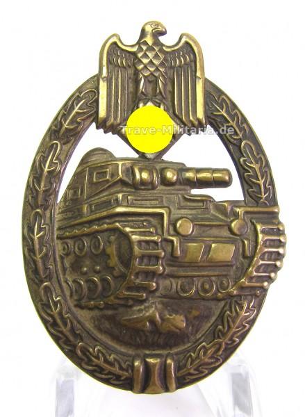 Panzerkampfabzeichen in Bronze - hohl - Buntmetall