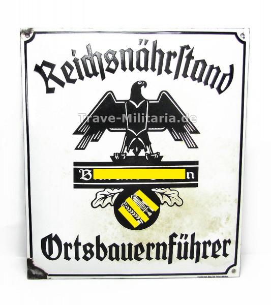 Emailleschild Reichsnährstand Ortsbauernführer