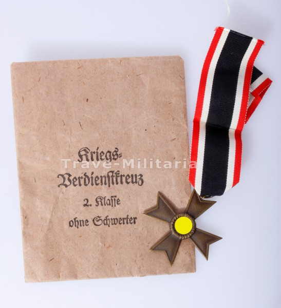 Kriegsverdienstkreuz 2. Klasse ohne Schwerter mit Verleihungstüte