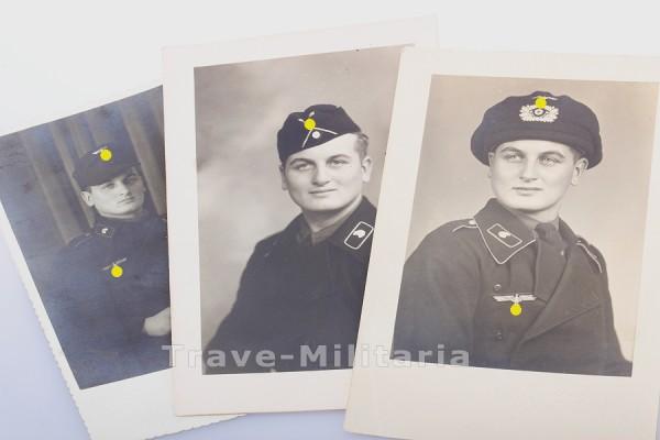 3 Portraitaufnahmen eines Panzermannes