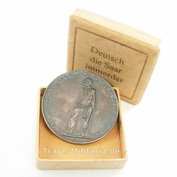 Silbermünze Deutsch ist die Saar immerdar im Pappetui