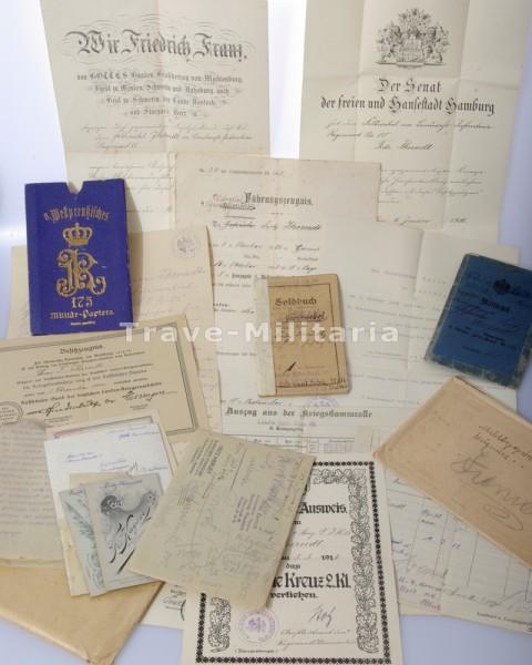 Papiernachlass Fritz Ihrendt Feldwebel Leutnant I.R.85