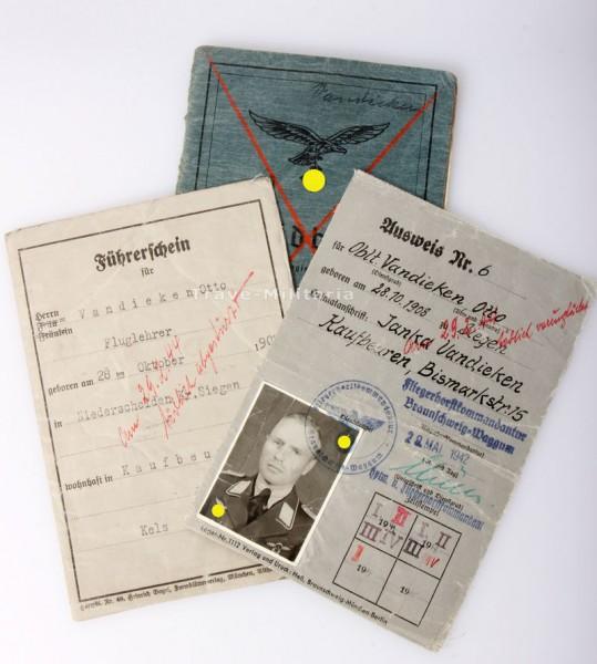 Stalingrad Soldbuch und Ausweise Deutsches Kreuz in Gold