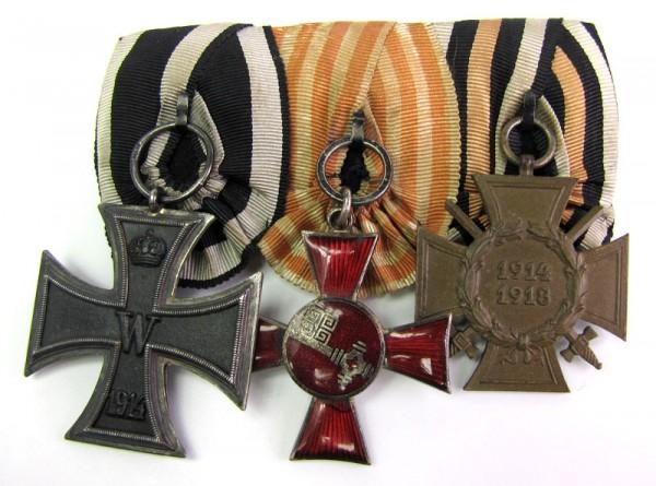 3er Ordenspange 1. Weltkrieg, Bremer Hanseatenkreuz