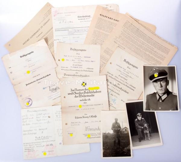 Papiergruppe Paul Scholven SS-Pol-Schützenregiment 1 und Wiking / Germania