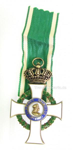 Sachsen Albrechtsorden Ritterkreuz 1. Klasse mit Krone - sehr selten - OEK 2208