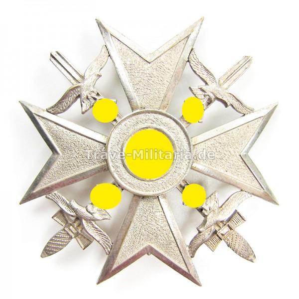 Spanienkreuz in Silber mit Schwertern