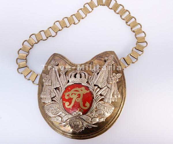 selten - Ringkragen für Offiziere Gardes du Corps