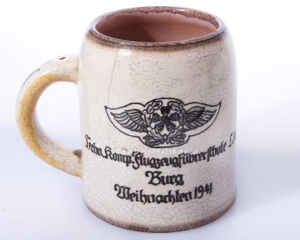 toller Bierkrug der Luftwaffe Flugzeugführerschule