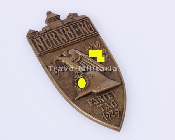 NSDAP Reichsparteitag Nürnberg 1929, große nichttragbare Erinnerungsplakette