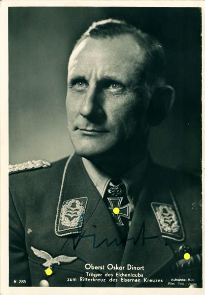 Autogramm Oberst Oskar Dinort