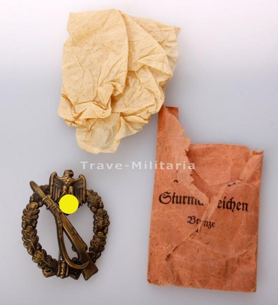 Infanterie- Sturmabzeichen in Bronze mit Verleihungstüte