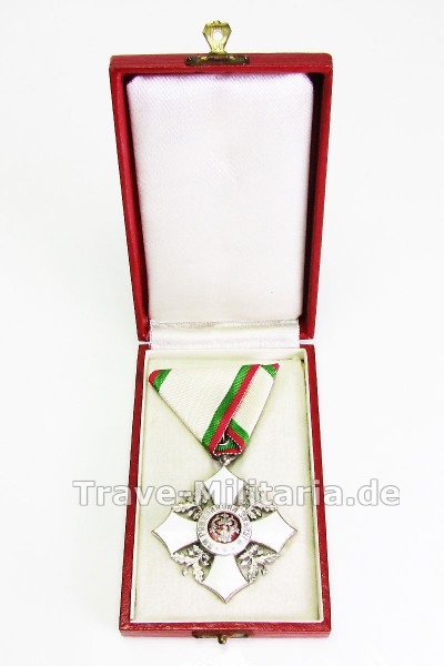 Bulgarien 1908-1944 Zivilverdienstkreuz 5. Klasse im Etui.