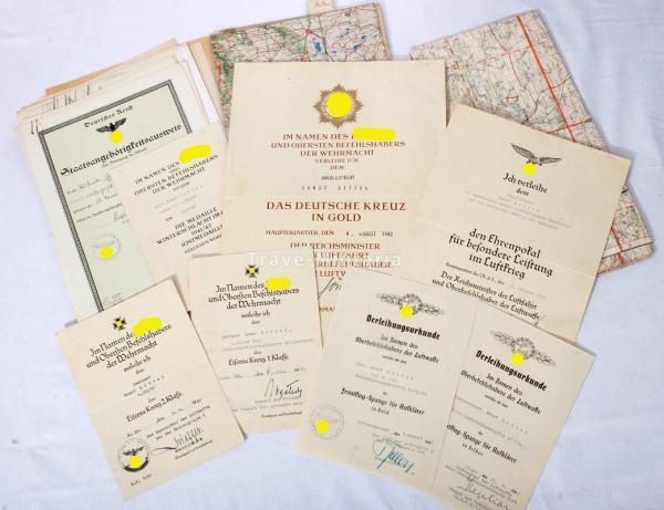 Nachlass Deutsches Kreuz in Gold 3.(H) /41 (Pz.) Schlachtaufklärungsgruppe 41