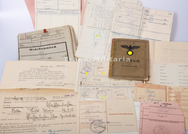 Papiere und Soldbuch Gebirgsjäger-Regiment 98