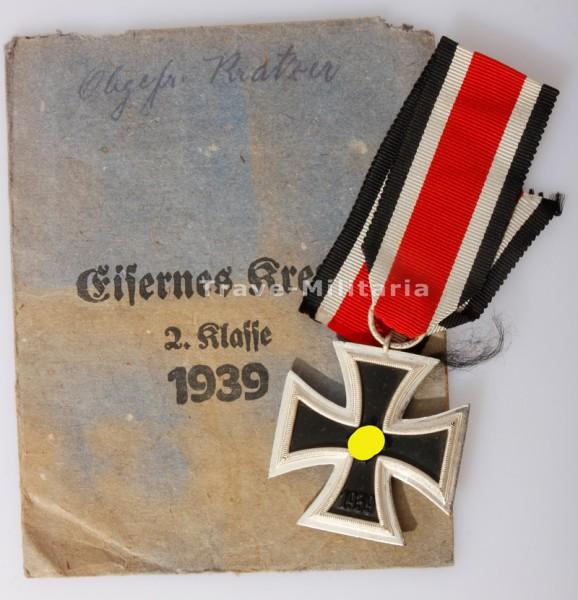 """Eisernes Kreuz 2. Klasse 1939 mit Verleihungstüte """"Brehmer"""""""