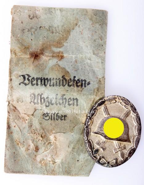 Verwundetenabzeichen in Silber mit Verleihungstüte