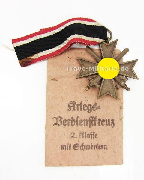 Kriegsverdienstkreuz 2. Klasse mit Schwertern mit Band und Tüte