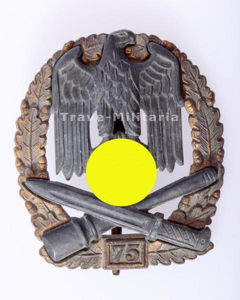 Allgemeines Sturmabzeichen IV. Stufe mit Einsatzzahl 75