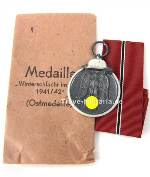 Medaille Winterschlacht im Osten mit Verleihtüte Deumer