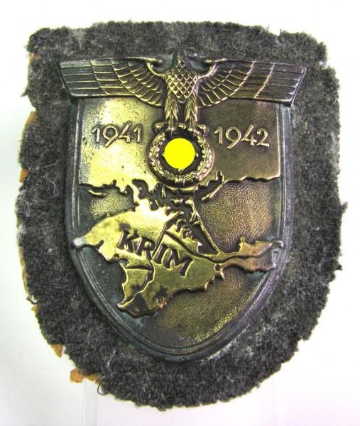 Krimschild 1941-1942 mit Stoff Heer