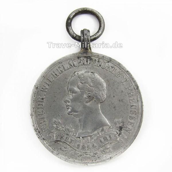 Preußen Kriegsdenkmünze 1863 für Nichtkämpfer von 1813-1815
