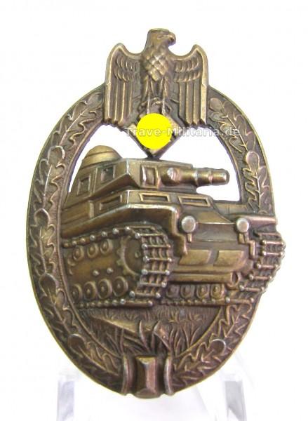 Panzerkampfabzeichen Bronze mit Hersteller A.S. Adolf Scholze - TOP