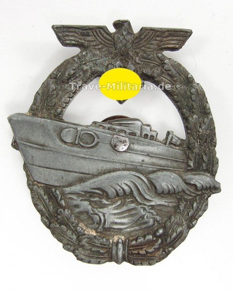 Schnellbootkriegsabzeichen 2. Form Hersteller Umbau RS