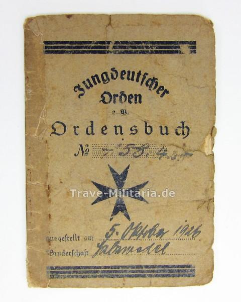 Ausweis Jungdeutscher Orden Ordensbuch