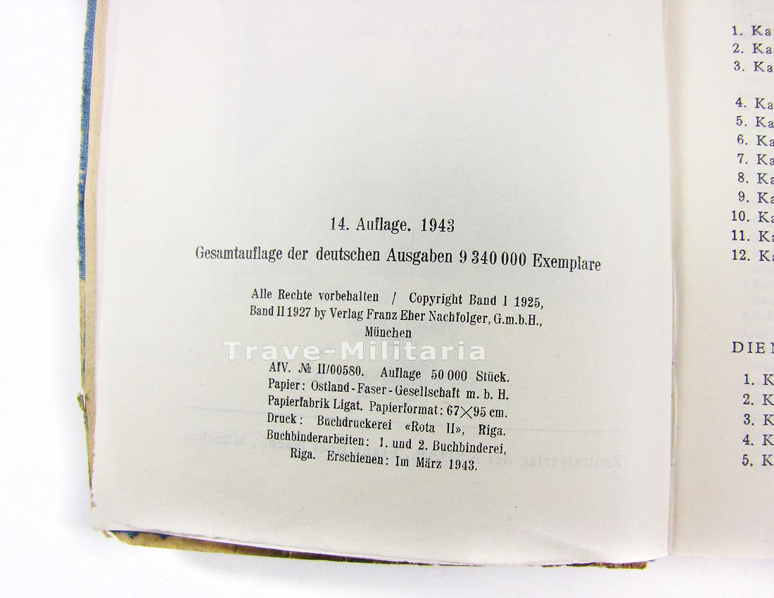 buch mein kampf 1943 blauer einband archiv trave. Black Bedroom Furniture Sets. Home Design Ideas